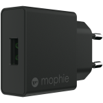 mophie 18W USB-A lader, sort