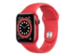 Apple Watch Series 6 (GPS) (PRODUCT) RED - red aluminium - smart watch with sport band - red - 32 GB