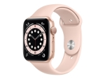 Apple Watch Series 6 (GPS) - gold aluminium - smart watch with sport band - pink sand - 32 GB