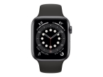 Apple Watch Series 6 (GPS) - space grey aluminium - smart watch with sport band - black - 32 GB