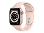 Apple Watch Series 6 (GPS + Cellular) - gold aluminium - smart watch with sport band - pink sand - 32 GB - not specified