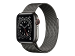 Apple Watch Series 6 (GPS + Cellular) - graphite stainless steel - smart watch with milanese loop - graphite - 32 GB - not specified