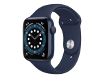 Apple Watch Series 6 (GPS + Cellular) - blue aluminium - smart watch with sport band - deep navy - 32 GB - not specified