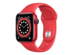Apple Watch Series 6 (GPS + Cellular) (PRODUCT) RED - red aluminium - smart watch with sport band - red - 32 GB - not specified