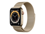Apple Watch Series 6 (GPS + Cellular) - gold stainless steel - smart watch with milanese loop - gold - 32 GB - not specified