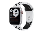 Apple Watch Nike Series 6 (GPS + Cellular) - silver aluminium - smart watch with Nike sport band - pure platinum/black - 32 GB - not specified
