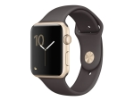 Apple Watch Series 1 - gold aluminium - smart watch with sport band - cocoa