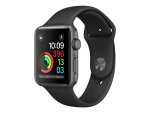 Apple Watch Series 1 - space grey aluminium - smart watch with sport band - black