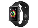 Apple Watch Series 3 (GPS) - space grey aluminium - smart watch with sport band - black - 8 GB