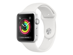 Apple Watch Series 3 (GPS) - silver aluminium - smart watch with sport band - white - 8 GB