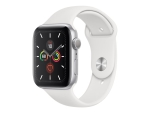 Apple Watch Series 5 (GPS) - silver aluminium - smart watch with sport band - white - 32 GB