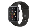 Apple Watch Series 5 (GPS) - space grey aluminium - smart watch with sport band - black - 32 GB