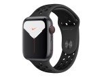 Apple Watch Nike Series 5 (GPS + Cellular) - space grey aluminium - smart watch with Nike sport band - anthracite/black - 32 GB - not specified