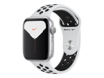 Apple Watch Nike Series 5 (GPS) - silver aluminium - smart watch with Nike sport band - pure platinum/black - 32 GB