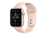 Apple Watch SE (GPS) - gold aluminium - smart watch with sport band - pink sand - 32 GB