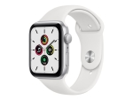 Apple Watch SE (GPS) - silver aluminium - smart watch with sport band - white - 32 GB