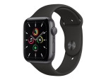 Apple Watch SE (GPS) - space grey aluminium - smart watch with sport band - black - 32 GB