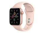 Apple Watch SE (GPS + Cellular) - gold aluminium - smart watch with sport band - pink sand - 32 GB - not specified