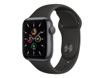 Apple Watch SE (GPS + Cellular) - space grey aluminium - smart watch with sport band - black - 32 GB - not specified