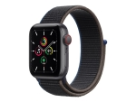 Apple Watch SE (GPS + Cellular) - space grey aluminium - smart watch with sport loop - charcoal - 32 GB - not specified