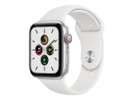 Apple Watch SE (GPS + Cellular) - silver aluminium - smart watch with sport band - white - 32 GB - not specified