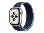 Apple Watch SE (GPS + Cellular) - silver aluminium - smart watch with sport loop - deep navy - 32 GB - not specified