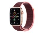 Apple Watch SE (GPS + Cellular) - gold aluminium - smart watch with sport loop - plum - 32 GB - not specified
