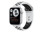 Apple Watch Nike SE (GPS) - silver aluminium - smart watch with Nike sport band - pure platinum/black - 32 GB