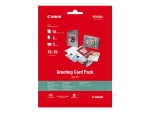 Canon Greeting Card Pack GCP-101 - photo paper kit - 10 sheet(s) - 100 x 150 mm - 170 g/m²