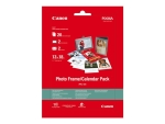 Canon Photo Frame/Calendar Pack PFC-101 - photo paper kit - 20 sheet(s) - 130 x 180 mm - 275 g/m²
