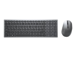Dell Multi-Device Wireless Keyboard and Mouse Combo KM7120W - keyboard and mouse set - Pan Nordic - titan grey