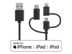 DELTACO IPLH-154 - charging / data cable - Lightning / USB - 50 cm