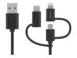 DELTACO IPLH-156 - charging / data cable - Lightning / USB - 2 m