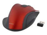 DELTACO MS-709 - mouse - 2.4 GHz - red