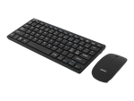 DELTACO TB-201 - keyboard and mouse set - Nordic - black