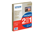 Epson Premium Glossy Photo Paper BOGOF - photo paper - 15 sheet(s) - A4 - 255 g/m² (pack of 2)