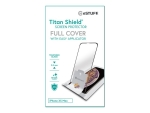 "eSTUFF Titan Shield Fullcover - Screen protector for mobile phone - 6.5"" - black, transparent - for Apple iPhone XS Max"