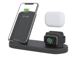 eSTUFF - Wireless charging stand - 15 Watt - Fast Charge - for Apple AirPods; AirPods Pro; Watch