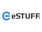 eSTUFF Smart Cover - Flip cover for tablet - eco-leather - black - for Apple iPad (3rd generation); iPad 2; iPad with Retina display (4th generation)