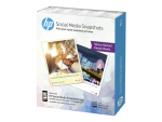 HP Social Media Snapshots - photo paper - 25 sheet(s) - 100 x 130 mm - 265 g/m²