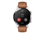 Huawei Watch GT 2 Classic - stainless steel - smart watch with strap - pebble brown