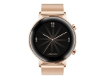 Huawei Watch GT 2 Elegant - rose gold stainless steel - smart watch with milanese strap - rose gold