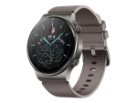Huawei Watch GT 2 Pro Classic - nebula grey - smart watch with strap - grey brown - 4 GB