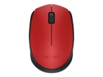 Logitech M171 - mouse - 2.4 GHz - black, red