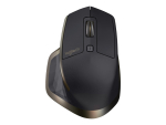 Logitech MX Master - mouse - Bluetooth, 2.4 GHz - meteorite