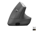 Logitech MX Vertical - vertical mouse - USB, Bluetooth, 2.4 GHz - graphite