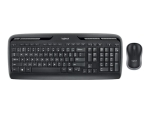 Logitech Wireless Combo MK330 - keyboard and mouse set - US International / EER - black