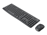 Logitech MK295 Silent - keyboard and mouse set - Pan Nordic - graphite