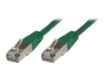 MicroConnect network cable - 25 cm - green