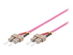 MicroConnect network cable - 1 m - erika violet
